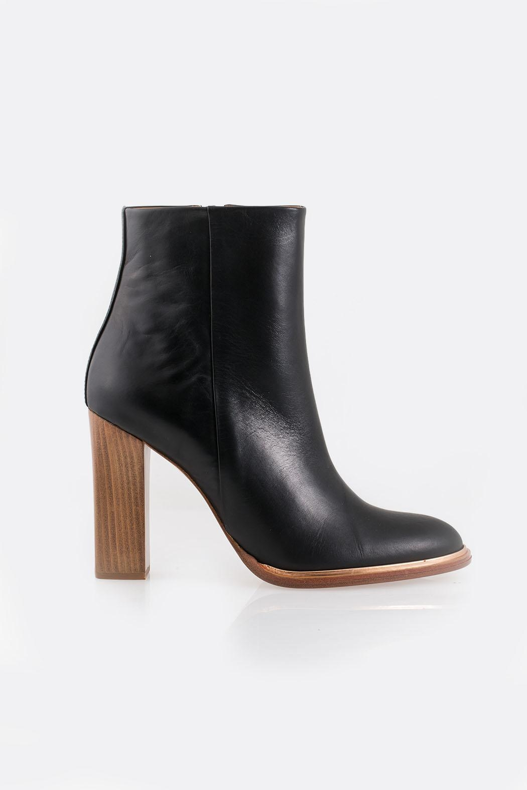 Veronique Branquinho Black Heeled Bootie - Front Full Image