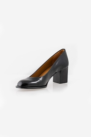Veronique Branquinho Black Patent Heel - Front cropped