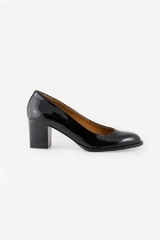 Veronique Branquinho Black Patent Heel - Front full body