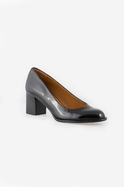 Veronique Branquinho Black Patent Heel - Side cropped