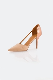 Veronique Branquinho Gold Back Heels - Front cropped