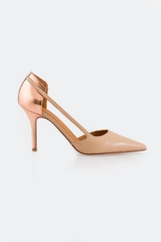 Veronique Branquinho Gold Back Heels - Front full body