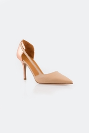 Veronique Branquinho Gold Back Heels - Side cropped