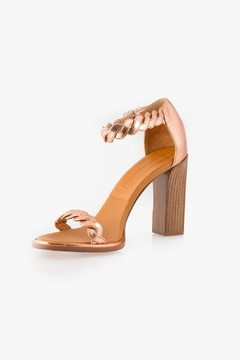 Shoptiques Product: Rose Gold Leather Heel