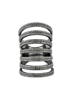 Shoptiques Product: Black Layered Ring