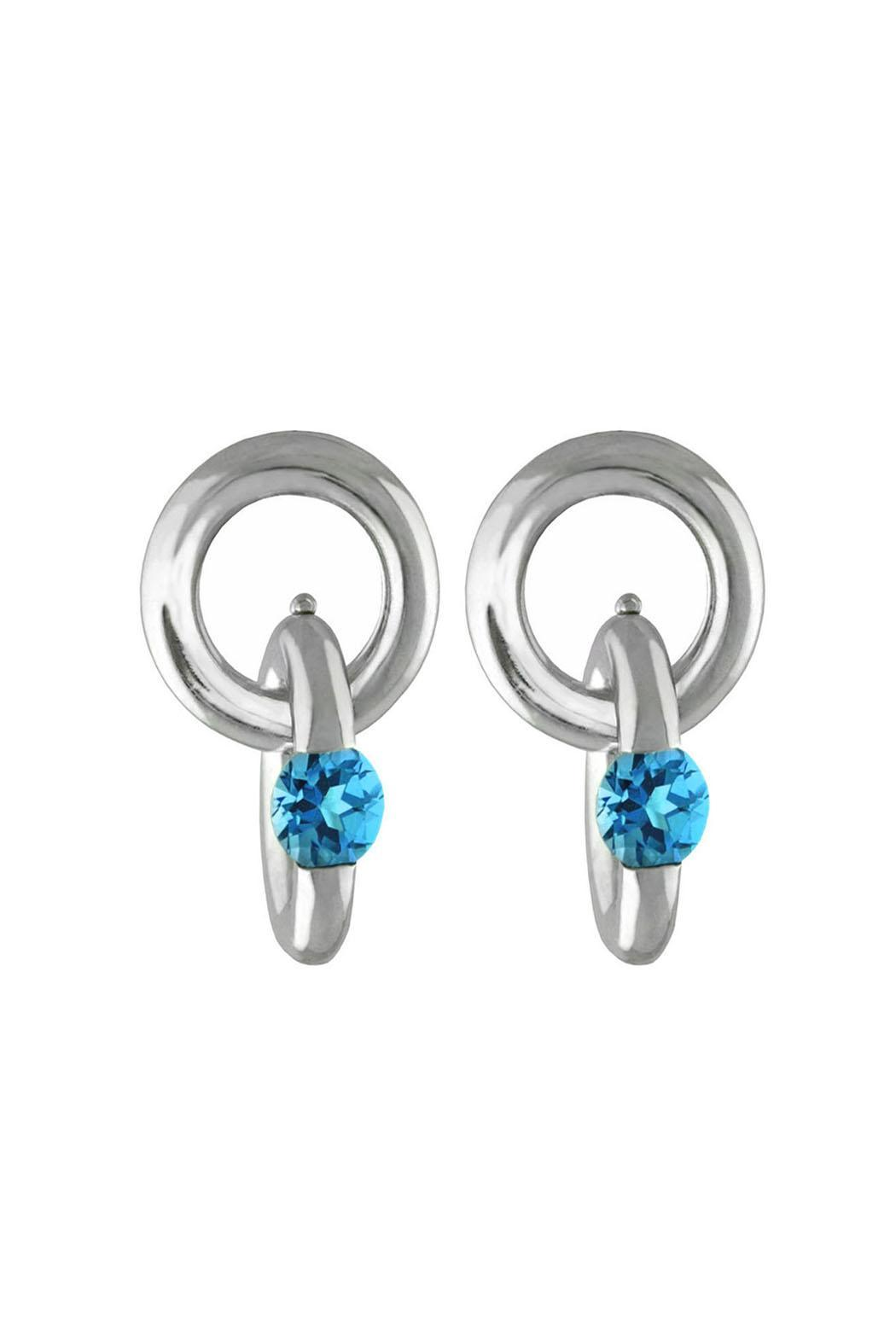 Versani Tension Gemstone Earrings Front Cropped Image