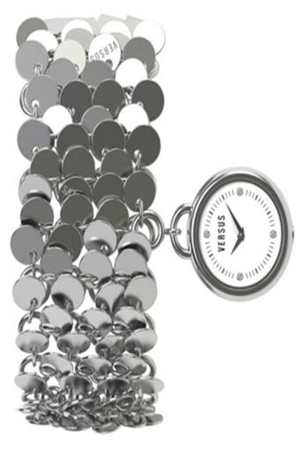 VERSUS by Versace Versus Silver Watch - Front Cropped Image