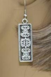 LaLou Vertical Designed Turkish Earrings - Product Mini Image