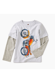 Tea Collection Vertical Moto Graphic Layered Tee - Product Mini Image