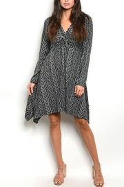Lyn -Maree's Vertical Pattern Dress - Front cropped