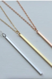 Laalee Jewelry Vertical Skinny Bar Necklace - Product Mini Image