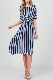 Kayla's Armoire Vertical Stripe Dress - Product Mini Image