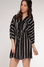 Dex/Black Tape Vertical Stripe Dress - Product Mini Image