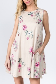 Lyn-Maree's  Vertical Stripe & Floral Swing Dress - Product Mini Image