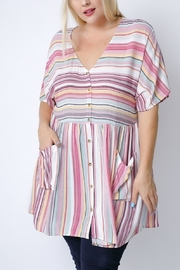 Lyn -Maree's Vertical Stripe Tunic - Front cropped