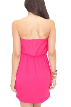 Shoptiques Product: Strapless Magenta Dress