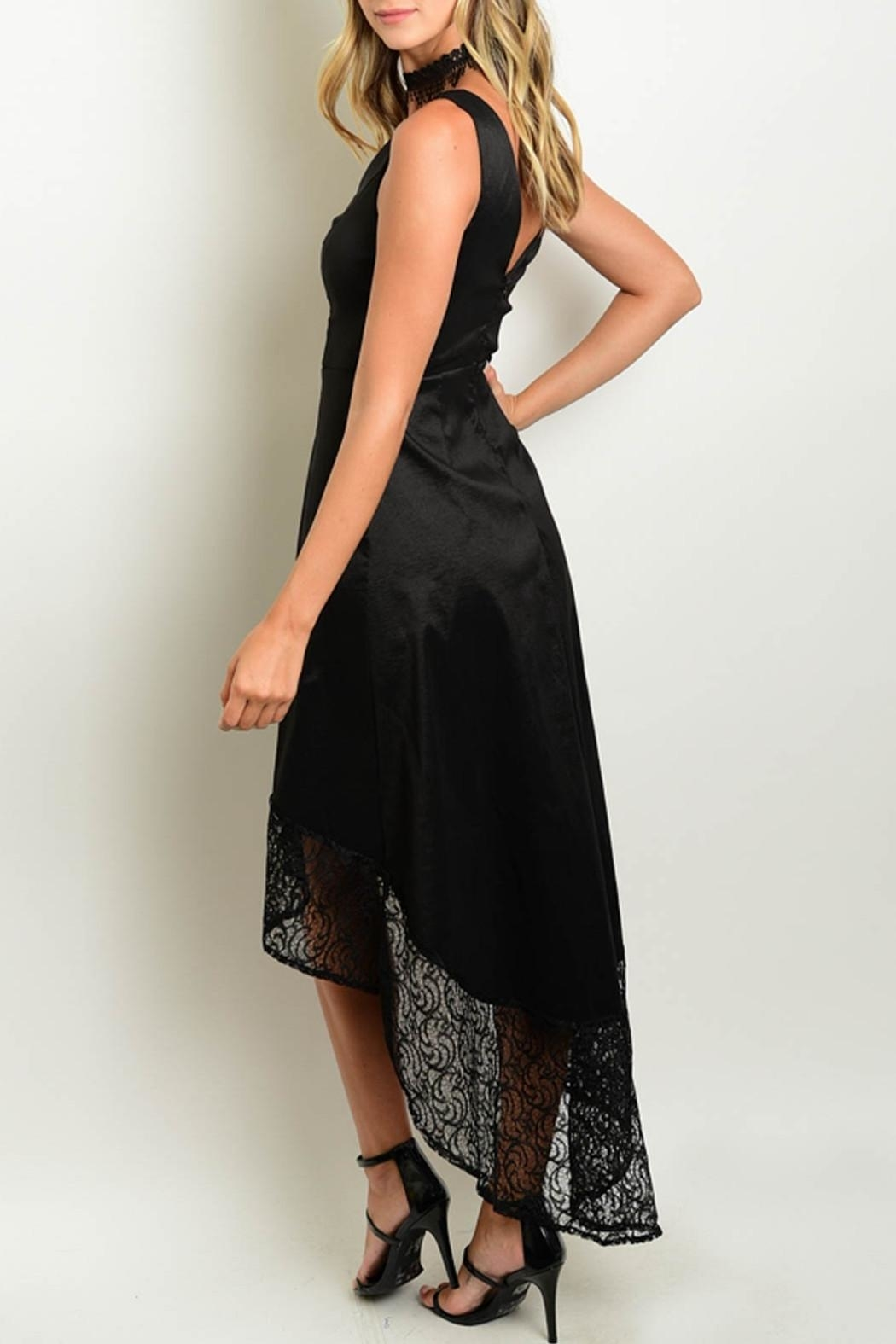 Verty Black High Low Dress - Front Full Image