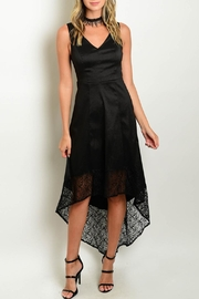 Verty Black High-Low Dress - Front cropped