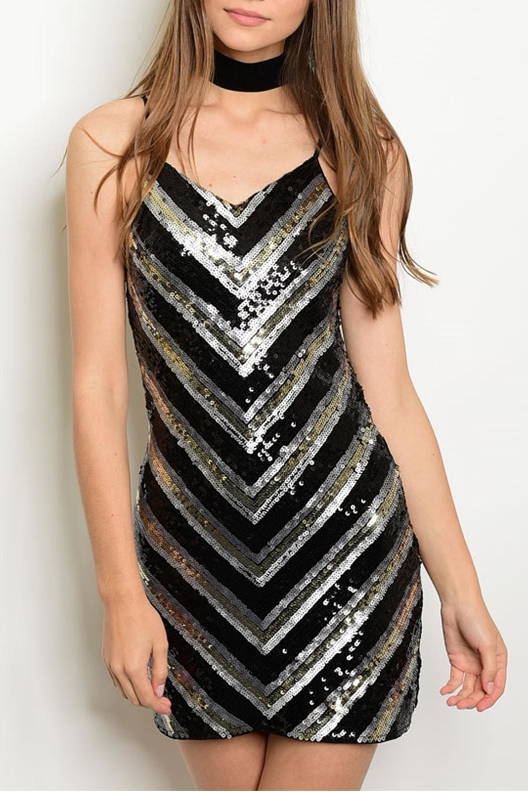 Verty Black Sequins Dress - Main Image