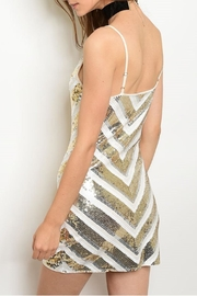 Verty Ivory Sequins Dress - Front full body