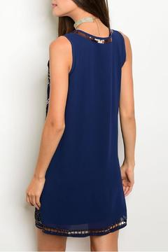 Verty Navy Beading Dress - Alternate List Image