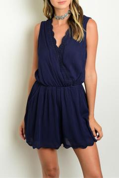Shoptiques Product: Navy Scallop Romper