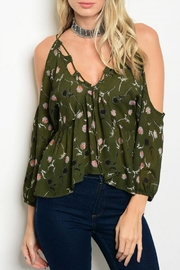 Verty Peek Shoulder Blouse - Product Mini Image