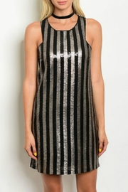 Verty Sequins Shift Dress - Front cropped