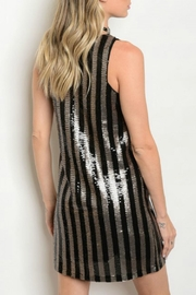 Verty Sequins Shift Dress - Front full body