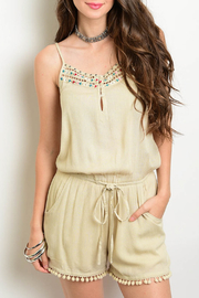 Verty Taupe Tassel Romper - Product Mini Image