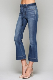 Vervet Belted Flare Denim - Product Mini Image