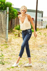 Vervet Distressed Frayed Jeans - Product Mini Image