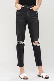 Vervet Distressed Mom Jeans - Product Mini Image