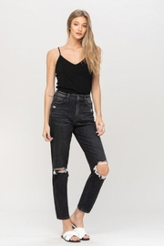 Vervet Distressed Stretch Mom Jean - Front cropped