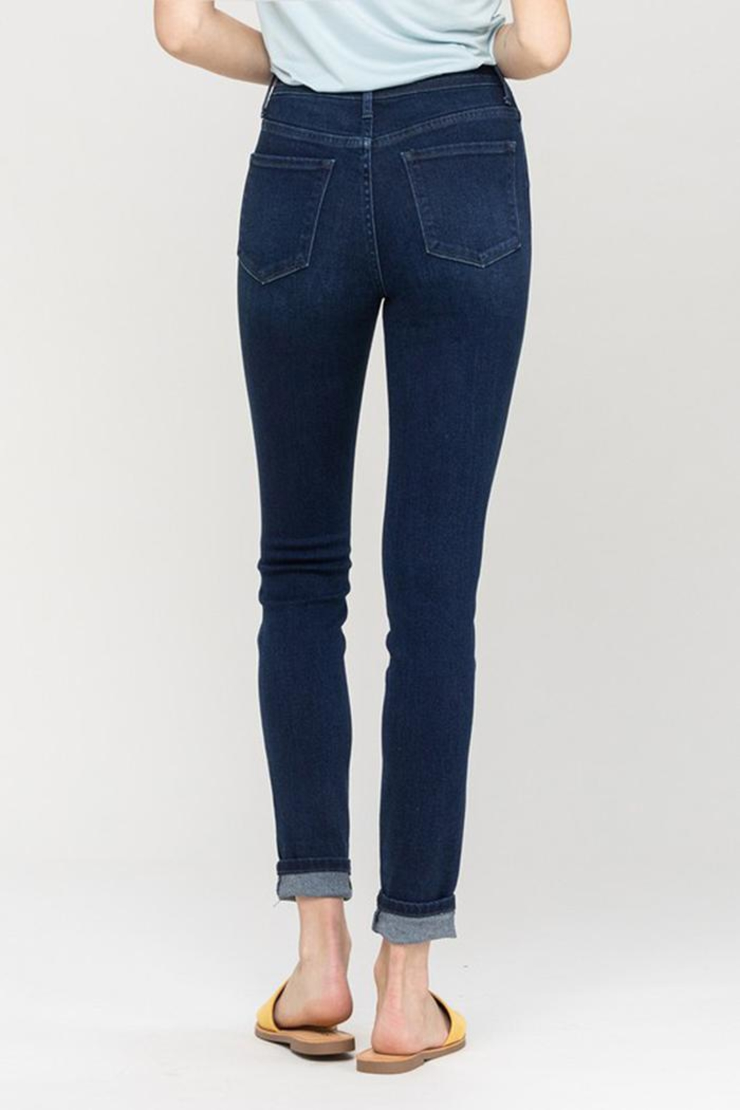 Vervet High-Rise Button Jeans - Back Cropped Image