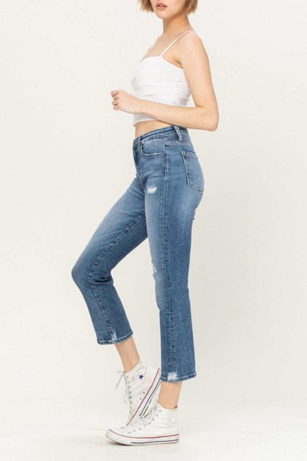 Vervet High-Rise Distressed Jeans - Side Cropped Image