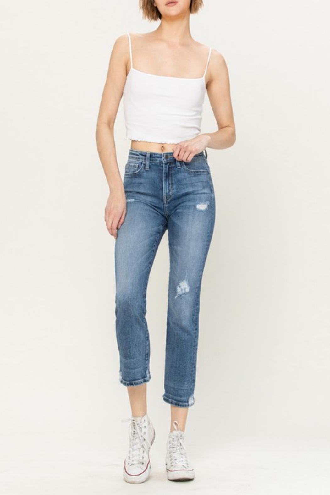 Vervet High-Rise Distressed Jeans - Front Full Image