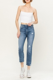 Vervet High-Rise Distressed Jeans - Front full body
