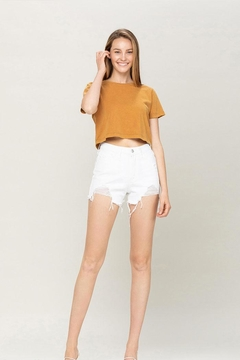 Vervet High-Rise Distressed Shorts - Product List Image