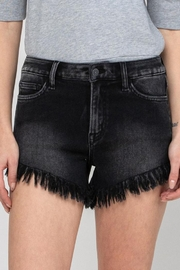 Vervet High Rise Dolphin Shorts With Fringe Hem - Product Mini Image