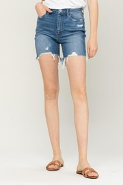 Vervet High Rise Frayed Hem Shorts - Product Mini Image