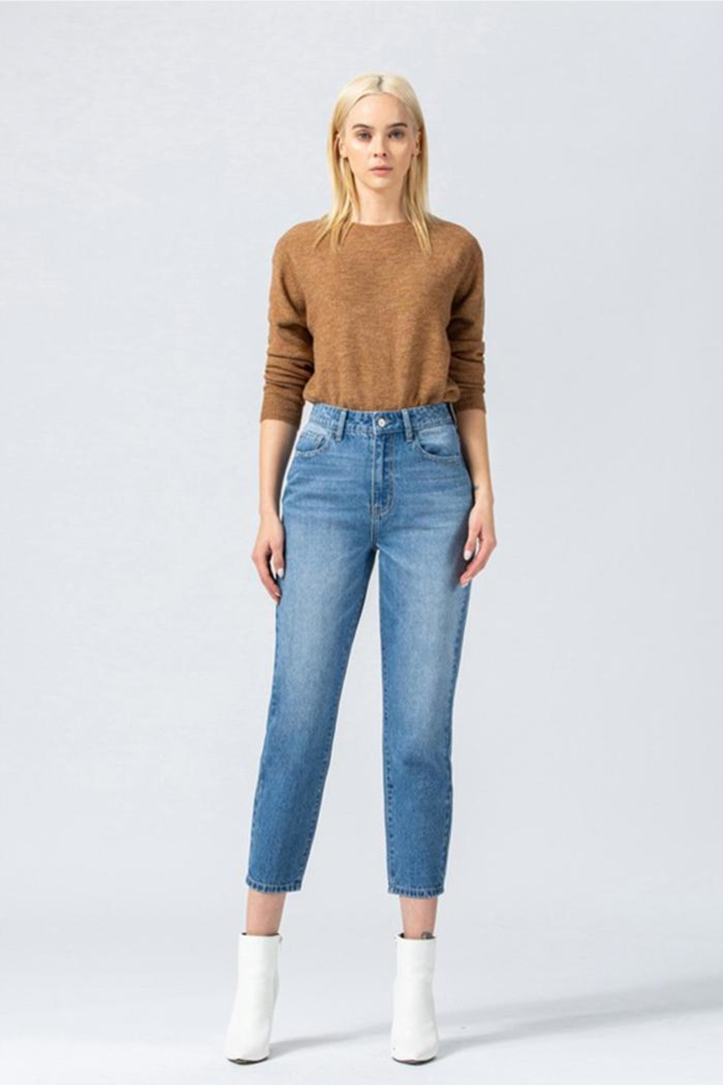Vervet High-Waisted Mom Jeans - Front Cropped Image