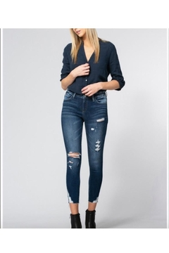 Vervet Mid Rise Distressed Clean Cut Crop Skinny - Alternate List Image