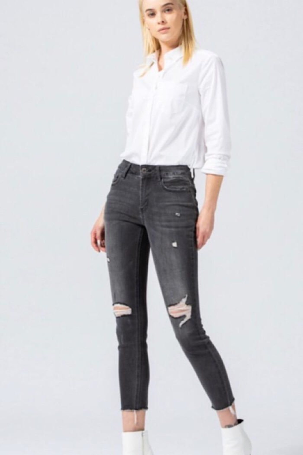 Vervet Mid Rise Skinny Jean - Front Cropped Image