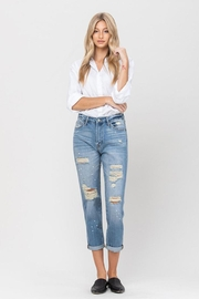 Vervet Splatter Paint Jeans - Product Mini Image