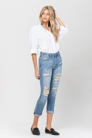 Vervet Splatter Paint Jeans - Side cropped