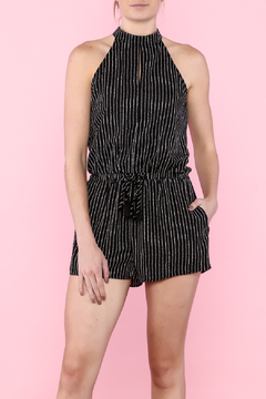Shoptiques Product: Black & White Striped Romper