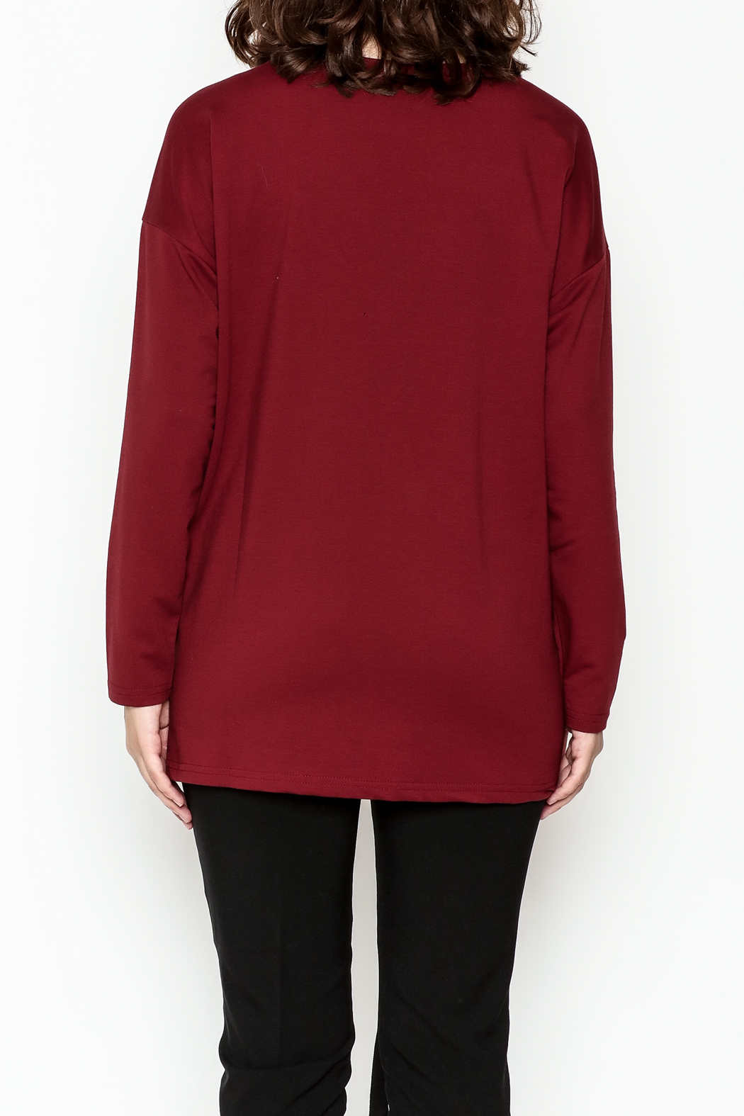 Very J Drawstring Accent Top - Back Cropped Image