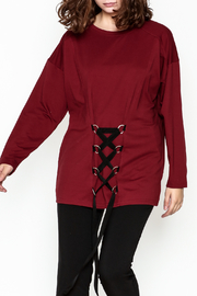 Very J Drawstring Accent Top - Front cropped