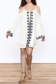 Very J Embroidered Loose Dress - Front full body